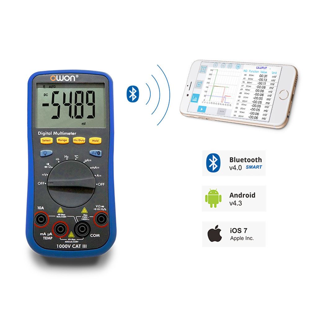 OWON 3 3/4 Digital Multimeter with Bluetooth